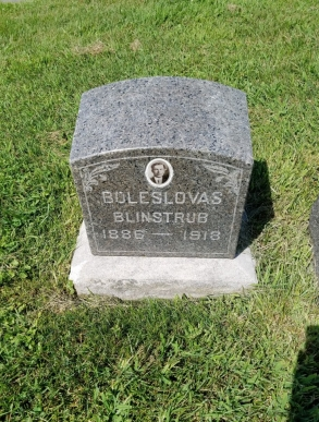 Boleslovas Blinstrub 1886-1919 Lithuanian National Cemetery Justice Illinois