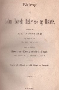 Cover of Bidrag til Hellem Herreds Beskrivelse og Historie Blenstrup village
