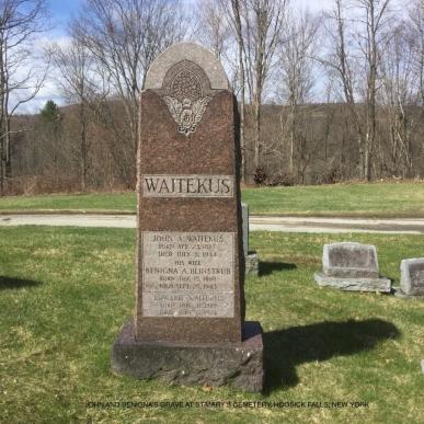 Benigna Blinstrub Saint Mary's Cemetery Hoosick Falls, New York