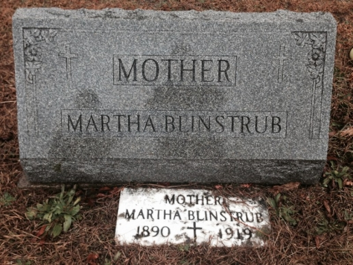 Martha Blinstrub Pringle Saint Ignatius Catholic Church Cemetery