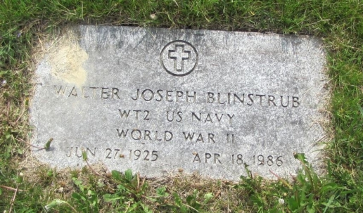 Walter Joseph Blinstrub Saint Mary's Cemetery Hoosick Falls, New York