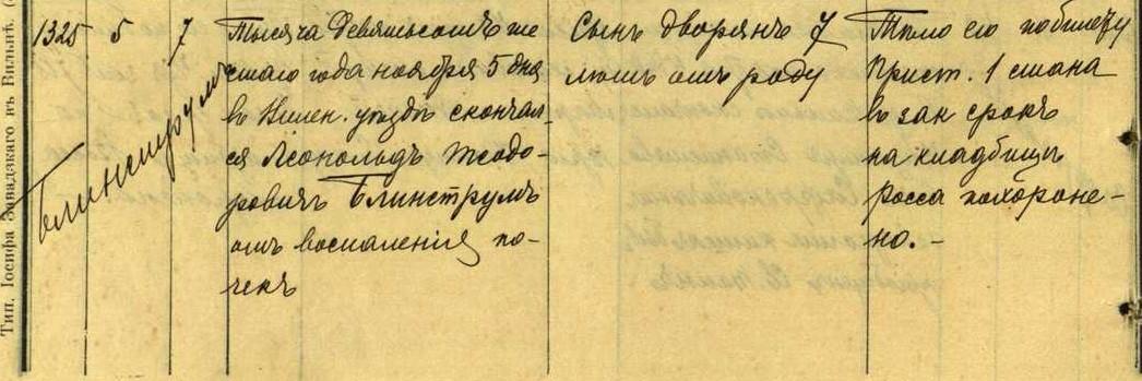 19061105 Leopoldas Blinstrubas Teodoro 19061105