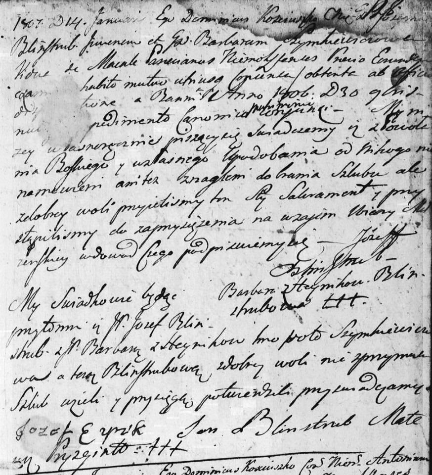 18070114 Juozapas-Blinstrubas-ir-Barbora-Simkeviciene-Einikyte-Nemaksciai